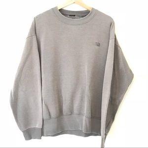90s Olympic Minimal Grey Distressed Sweatshirt